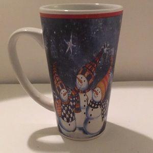 Tall Snowman trio coffee mug by Trisa